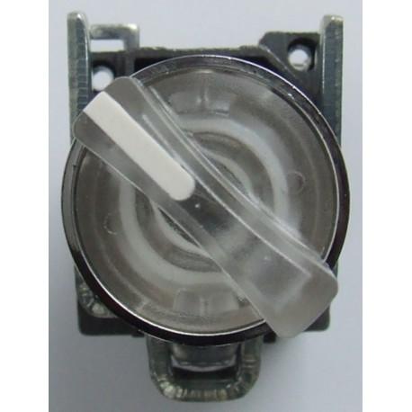 Przełącznik piórkowy 2 pozycyjny stabilny biały podświetlany 24V DC