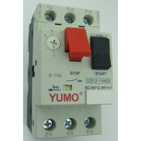 Automatyczny wyłącznik silnikowy 6A - 10A 3kW 4kW