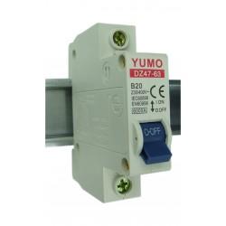 Wyłącznik nadmiarowo-prądowy 1P B20A