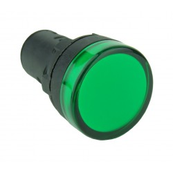 Lampka kontrolna 24V DC zielona