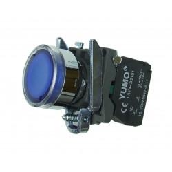 Przycisk sterowniczy podświetlany 24V DC AC niebieski