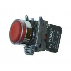 Przycisk sterowniczy podświetlany 24V DC AC czerwony