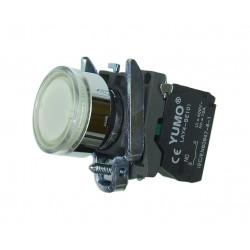 Przycisk sterowniczy podświetlany 110V AC biały