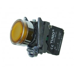 Przycisk sterowniczy podświetlany 110V AC żółty